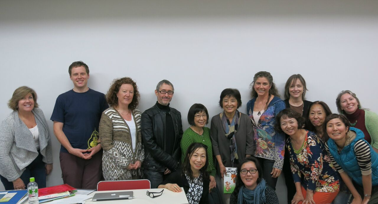 A group shot and much appreciation from SCBWI Japan!
