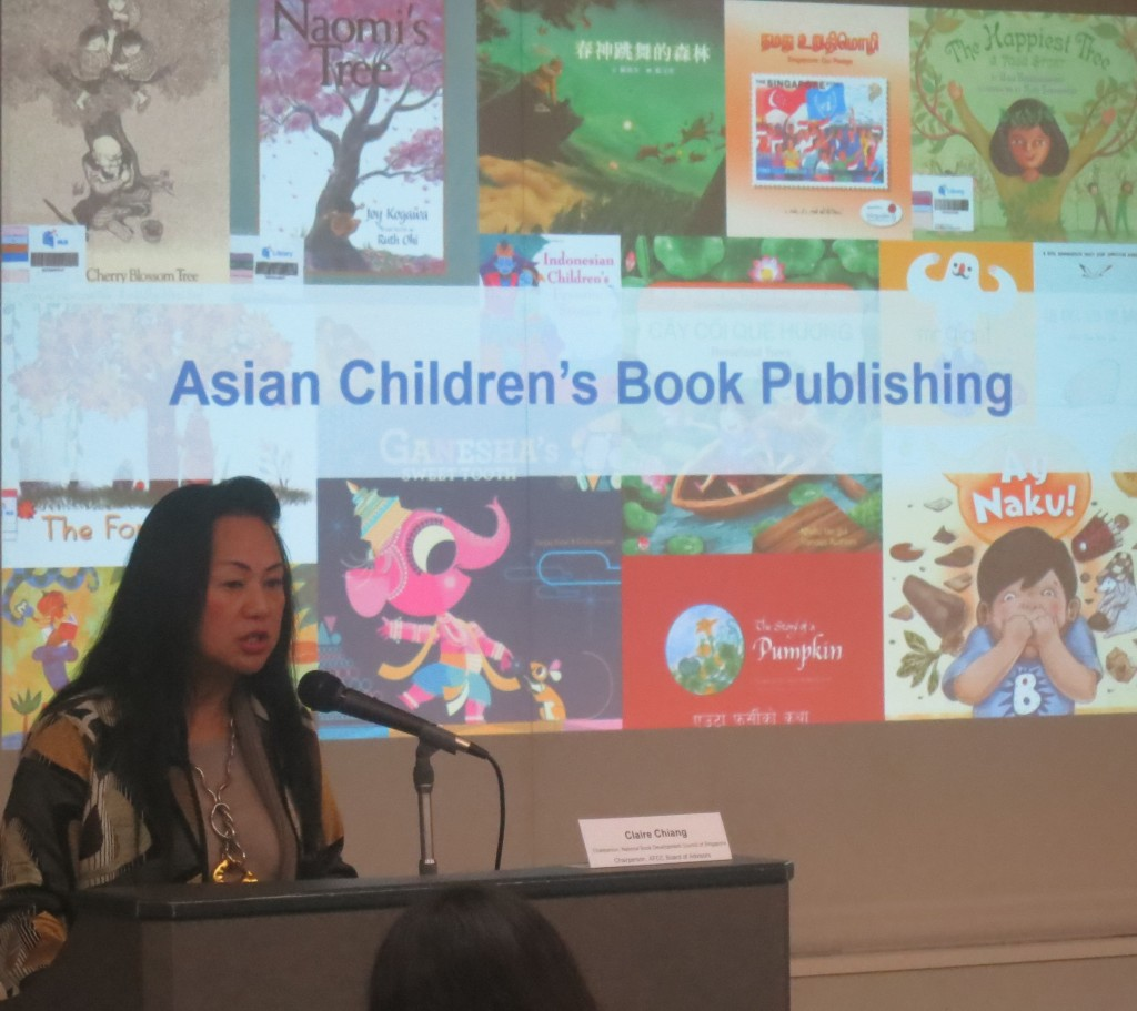 Claire Chiang and a selection of book titles